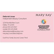 Shop mary kay business cards and calendars mkconnections advanced product consultant business card pink colourmoves