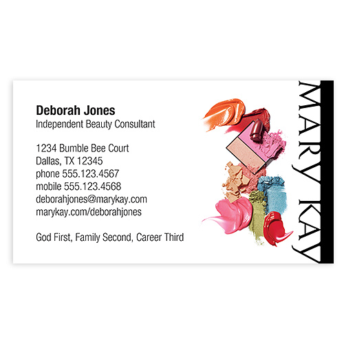 Shop mary kay business cards and calendars mkconnections color magnet business card colourmoves Gallery