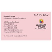 Shop mary kay business cards and calendars mkconnections advanced color consultant business card pink colourmoves