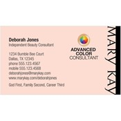 Shop mary kay business cards and calendars mkconnections advanced color consultant business card pink colourmoves Gallery