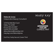 Shop mary kay business cards and calendars mkconnections advanced color consultant business card black wajeb Gallery