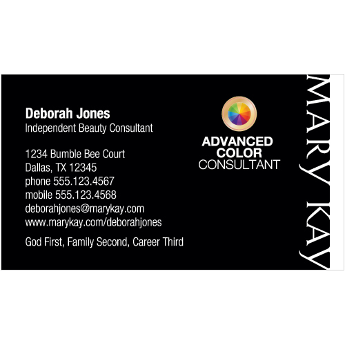 Shop Mary Kay Business Cards And Calendars MKConnections - Mary kay business cards templates free