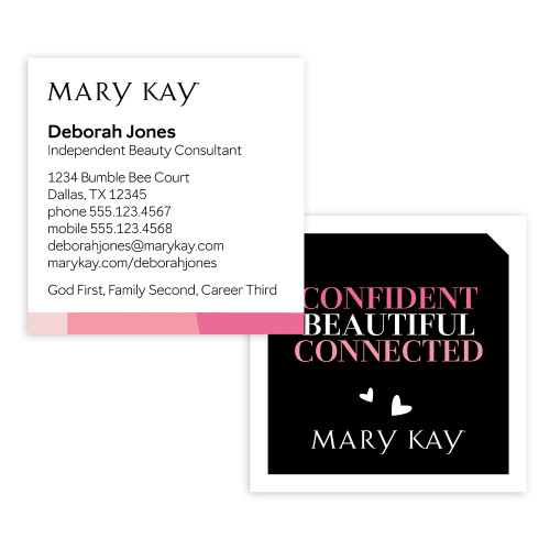 Confident Square Business Cards
