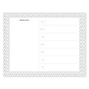 Distressed Chevron Grey Calendar Notepad