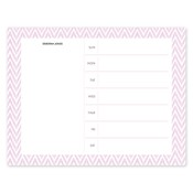 Distressed Chevron Pink Calendar Notepad