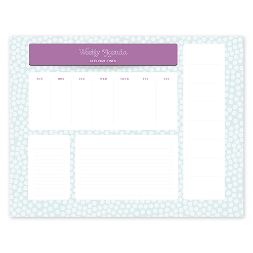 Dottie Blue Calendar Notepad