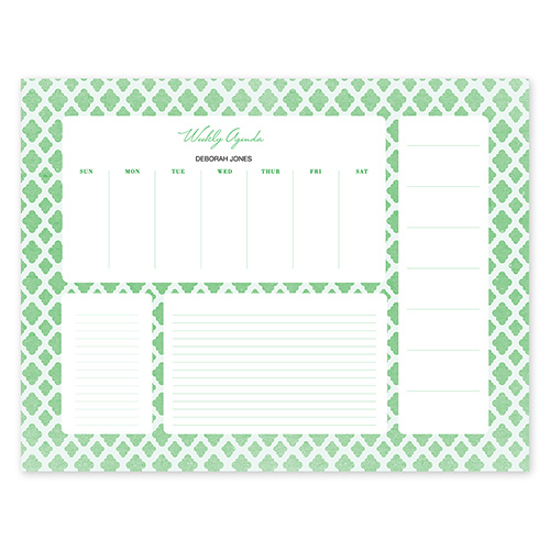 Perfect Pattern Green Calendar Notepad Mary Kay Connections