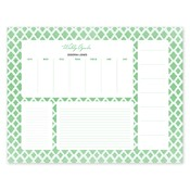 Perfect Pattern Green Calendar Notepad