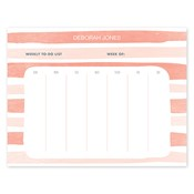 Painted Stripes Orange Calendar Notepad