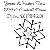 Monogram Snowflake Custom Stamp
