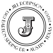 Jill Monogram Custom Stamp
