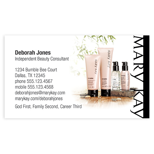 Mary Kay Business Cards Promote Your Mary Kay Business