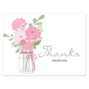 Country Chic Bouquet Pink Folded Notes