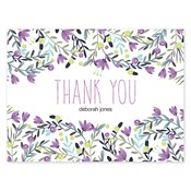 Colorful Garden Purple Folded Notes
