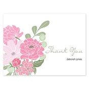 Country Petals Pink Folded Notes