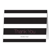 Stripes Thank You Notes - Non Personalized