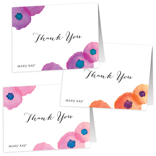 Floral Thank You Notes - Non Personalized