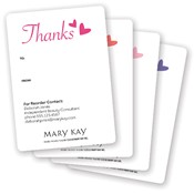 Thank You Hearts Gift Tag Stickers