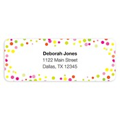 Confetti Dots Green Address Labels