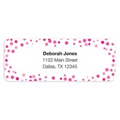 Confetti Dots Pink Address Labels