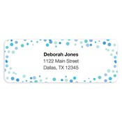 Confetti Dots Blue Address Labels