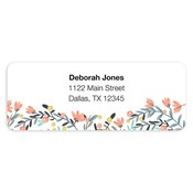 Colorful Garden Pink Address Labels
