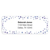 Confetti Dots Purple Address Labels