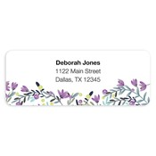 Colorful Garden Purple Address Labels