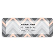 Chevron Splash Grey Address Labels