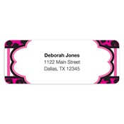 Fashionably Fun Hot Pink Address Labels