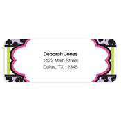 Fashionably Fun Purple Address Labels