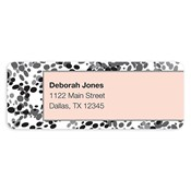 Ooh La La Grey Address Labels