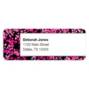 Ooh La La Pink Address Labels