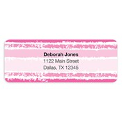 Painted Stripes Pink Address Labels