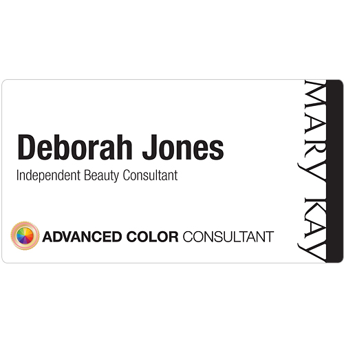 Advanced Color Consultant White Name Tag