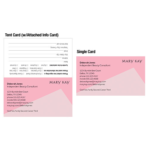 Mary kay pink business card order online mkconnections pink business card colourmoves