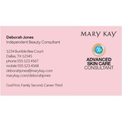 Advanced Skin Care Consultant Business Card, Pink
