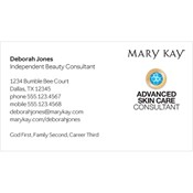 Advanced Skin Care Consultant Business Card, White