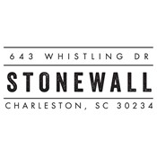 Stonewall Address Stamp