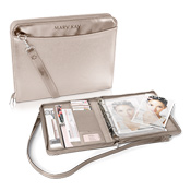 Champagne Metallic Business Organizer